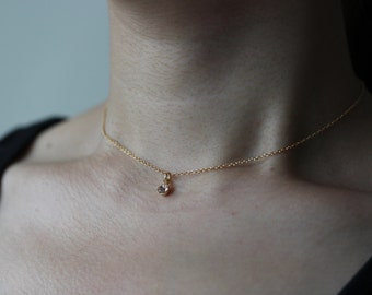 Baby pink necklace gold necklace crystal necklace crystal choker necklace gold choker sterling silver necklace sterling silver choker