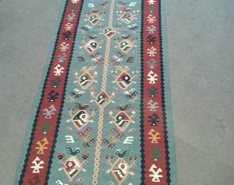 "Handmade Long 10'2""X3'1""SHARKOY Runner"