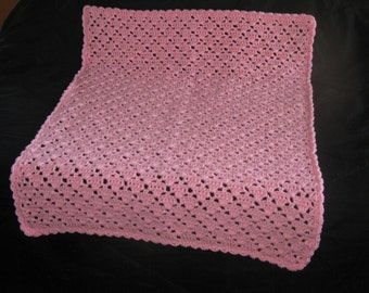 Lacy Pink Baby Blanket