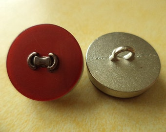 Metal button buttons 12 metal buttons red 18 mm (k18)