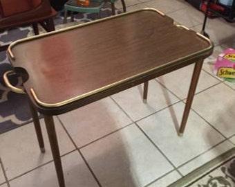 Mid Century Sheibe Folding Tray Table