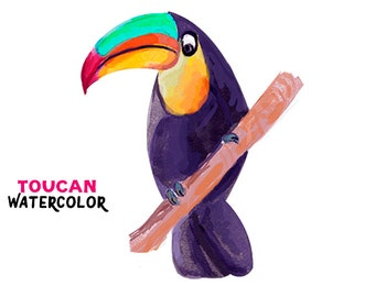 Toucan Watercolor clipart