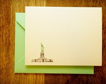 Lady Liberty Notecards - set of blank cards with envelopes