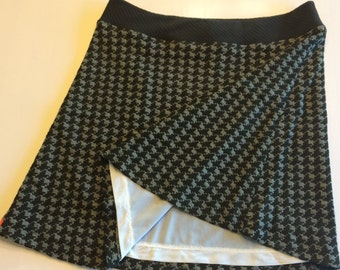 Classic Herring Bone Knit Activewear/Officewear Skirt Made of Stretchy Knit Fabric and Fully Lined