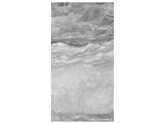 sea, ocean, aqua, wave, water, fine art, black and white photography, wild, Ocean Water Print, wall art, Ocean Waves, panoramic, 039