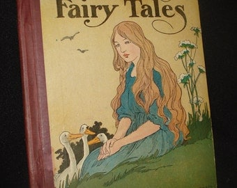 Vintage Grimm's Fairy Tales Book