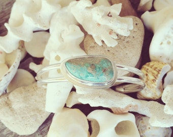 Sterling Silver Cuff Bracelet featuring Australian Turquoise