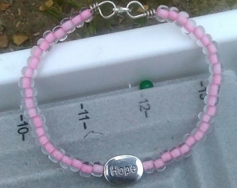 Hope Breast Cancer Awareness Bracelet