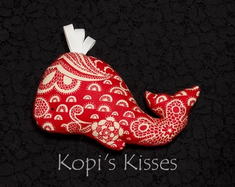 Whale softie (small) - red and white