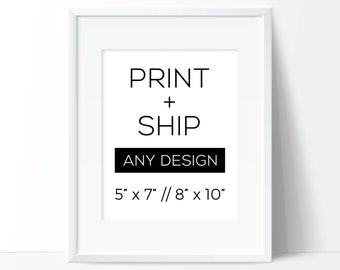 Print and Ship, Printed Art, 8x10 Print, 5x7 Print, Printed Wall Art, Modern Print, Minimal Print, Physical Print, 5x7 Art, 8x10 Art