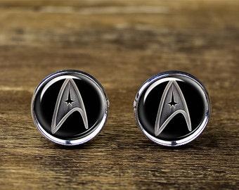Star Trek cufflinks, Star Trek jewelry, Star Trek accessories