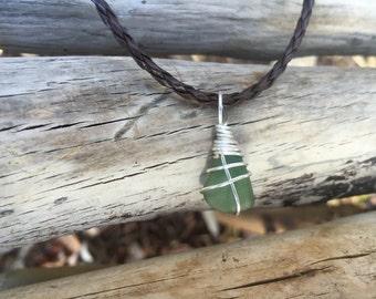 Sea Glass Necklace | California Coast