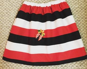 Little girl reversible skirt