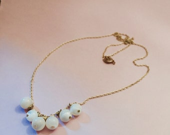 Gold-Wrapped Mother of Pearl Rounds on Gold Necklace Chain *Santa Fe Collection*