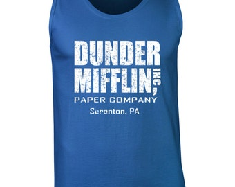 Dunder Mifflin costume tv show office party college halloween retro vintage - Apparel Clothing - Tank Top - 072