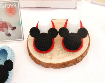 MICKEY Mouse Crochet BABY Shoes instant PDF Pattern