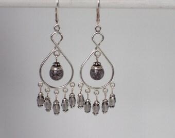 Chandelier Beaded Dangle Earrings