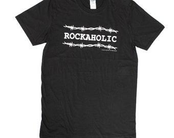 """Men's """"Rockaholic"""" design T Shirt"""
