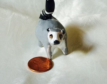 Handmade miniature ring tailed lemur