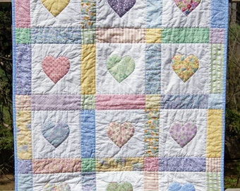 Applique Heart Baby Quilt Kit