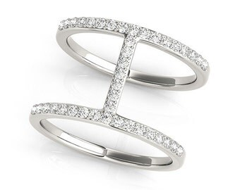 Diamond Fashion Ring. In White , Yellow, or Rose Gold