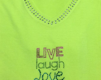 Live Love Laugh Bling Tee