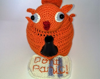 Don't Panic! Babel fish with towel Tea Cosy