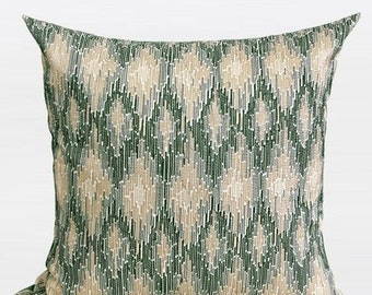"Luxury Green European Classical Pattern Embroidered Pillow Cover 20""X20"""