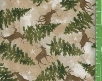 Wonder of Winter,Deer in the Pines, Flannel, Maywood Studio