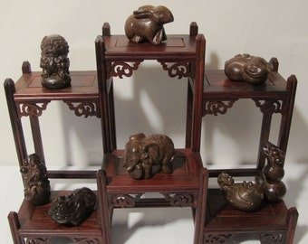 8pc Hardwood Hand Carving Animal