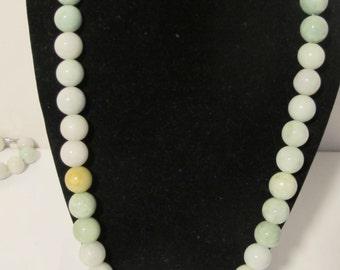 Multi Colored Jade Necklace Grade A