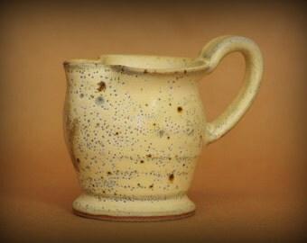 Small ceramic creamer - small ceramic gravy boat - handmade small pitcher