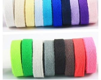 Serge cotton Ribbon - 10mm