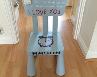 Blue Time Out Chair/Timeout Chair - Personalised