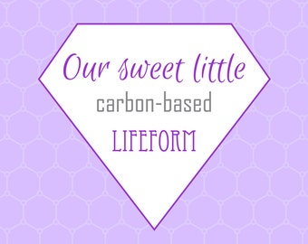 Nursery Prints, Printable Wall Art, Carbon-based Lifeform, Digital Prints, Purple Print, Science, Nerd Print, Geek Print, Printable Art
