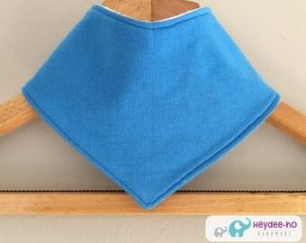 Cotton baby bandana bib– blue