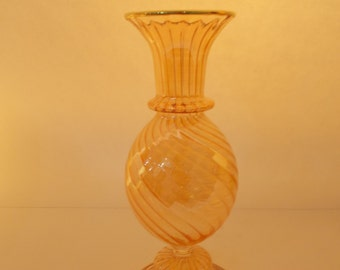 Smiley HONEY COLOR Glass vase