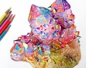 Colored Pencil Crystal Dr...
