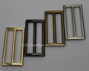 4 x 51.5mm Metal Tri Glide Slide Buckles 4 Colors