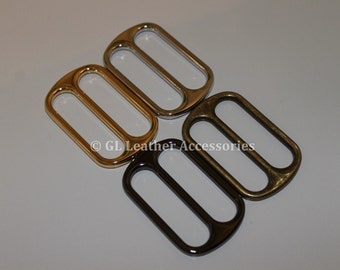 4 x 39mm Rounded Corners Metal Tri Glide Slide Buckles