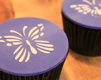 Cupcake Toppers - Purple Butterfly