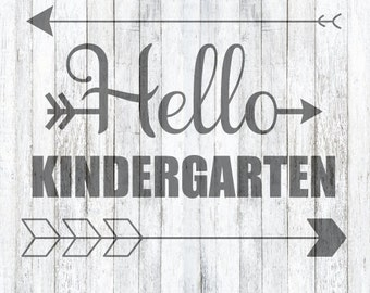 SVG File Hello & Goodbye Kindergarten, Starting School,