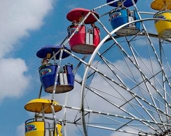 Photo Print - Ferris Wheel Photo - Ferris Wheel - Ferris Wheels - Carnival Photo