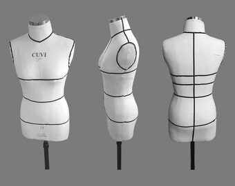 Mannequin for draping, sewing and pattern making
