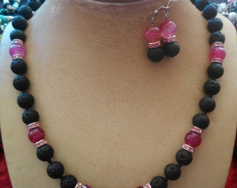 Pearl & agate hand knotted