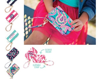 Personalized Cell Phone/Wallet Wristlet