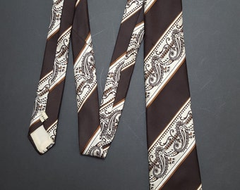 Vintage 1970s Selfridges London retro Tie