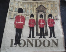 London Solider Theme Cotton linen Cushion Cover Fabric for DIY . Each piece 48.5x50cm