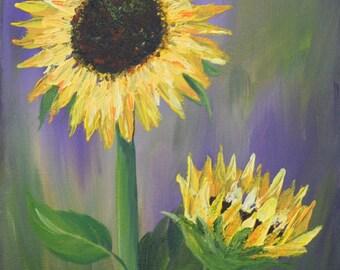 "Acrylic Painting Titled ""Seeking the Light"""