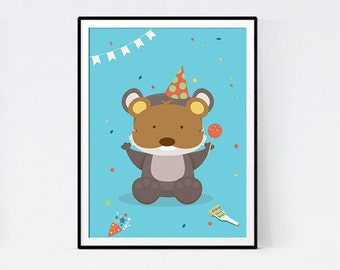 Poster raton hidden child room - instant download